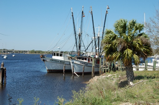 Shrimp boats are a slower way to travel.